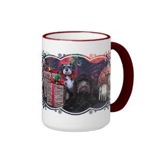 Navidad - Schnauzer Apache - Bowen LabraDoodle Tazas De Café