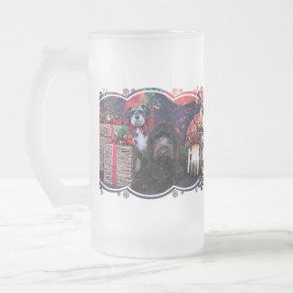 Navidad - Schnauzer Apache - Bowen LabraDoodle Taza De Café