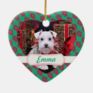 Navidad - Schnauzer - Emma Ornamentos De Navidad