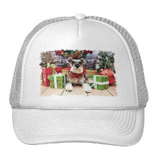 Navidad - Schnauzer - petunia Gorro De Camionero