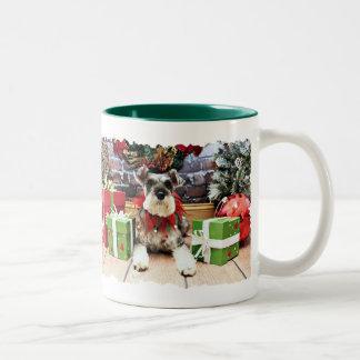 Navidad - Schnauzer - petunia Taza De Café