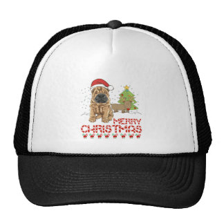 Navidad Shar Pei Gorro