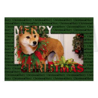 Navidad - Shiba Inu Photocard Felicitación