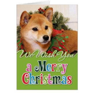 Navidad - Shiba Inu Photocard Felicitaciones