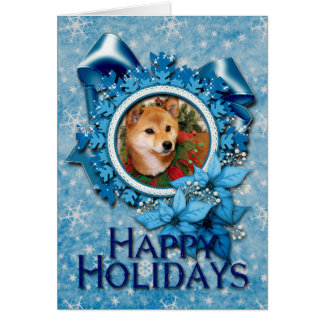 Navidad - Shiba Inu Photocard Tarjeta