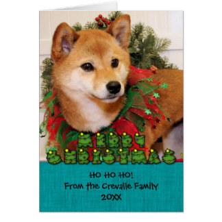 Navidad - Shiba Inu Photocard Felicitacion