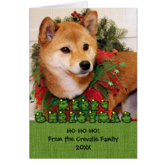 Navidad - Shiba Inu Photocard Tarjetón