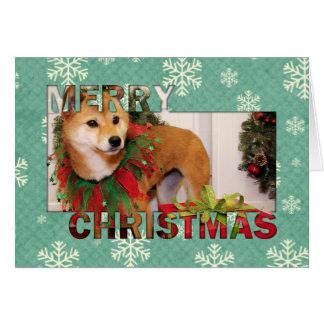 Navidad - Shiba Inu Photocard