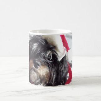 Navidad Shih Poo Taza Clásica