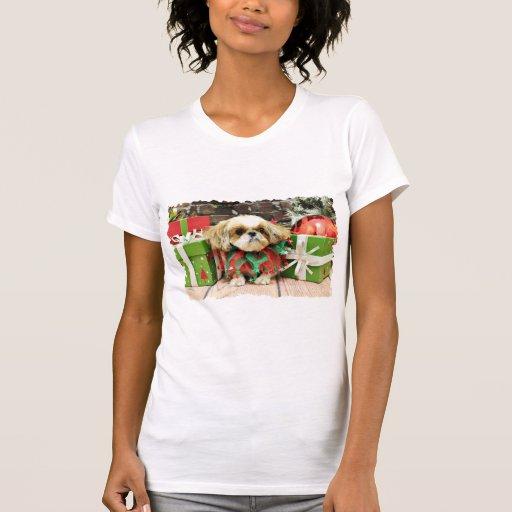 Navidad - Shih Tzu - conde Camiseta
