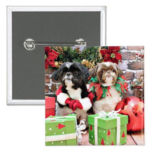 Navidad - Shih Tzu - duendecillo y Willie Pins