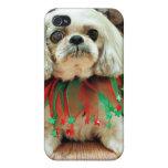 Navidad - Shih Tzu - Kobe iPhone 4 Funda