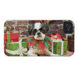 Navidad - Shih Tzu - Louie iPhone 4 Cobertura