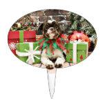 Navidad - Shih Tzu - Lucy Decoración Para Tarta