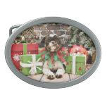 Navidad - Shih Tzu - Lucy Hebillas Cinturon Ovales