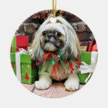 Navidad - Shih Tzu - ópalo Ornamento Para Reyes Magos