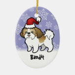 Navidad Shih Tzu (perrito cortado) (añada el nombr Ornatos