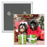 Navidad - Shih Tzu - Riley y volantes Pin
