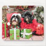 Navidad - Shih Tzu - Riley y volantes Alfombrilla De Ratones