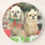 Navidad - Shih Tzu - Sr. T y Terrier X - lirio Posavaso Para Bebida