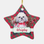 Navidad - Shih Tzu - Wrigley Ornaments Para Arbol De Navidad