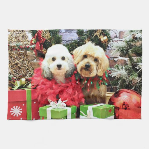 Navidad - ShihPoo - Sophie y Twix Toalla