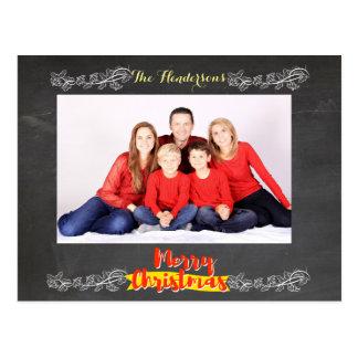 Navidad simple de la pizarra tarjetas postales