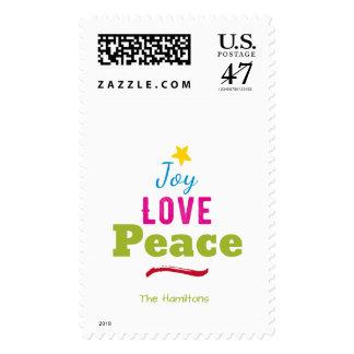Navidad simple del estilo de la tipografía sello