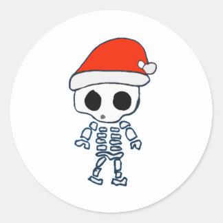 Navidad Skelly Etiquetas