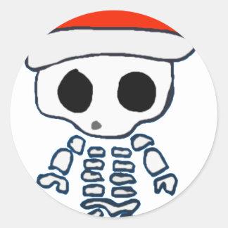 Navidad Skelly Pegatina