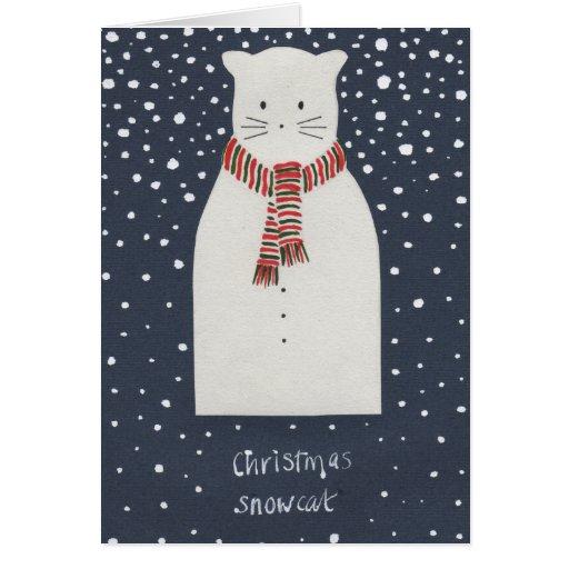 Navidad Snowcat Felicitaciones