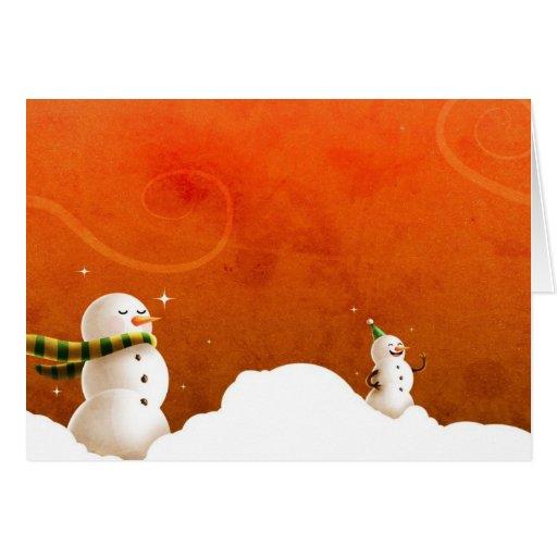 Navidad snowmen1 tarjeta de felicitación