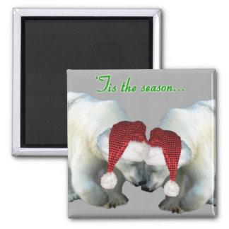 Navidad Snuggling el imán de los osos polares