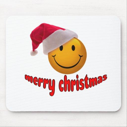Navidad sonriente alfombrillas de raton