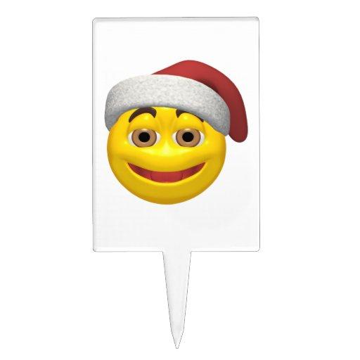 Navidad sonriente decoraciones de tartas