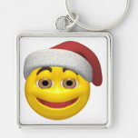 Navidad sonriente llavero