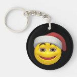 Navidad sonriente llaveros