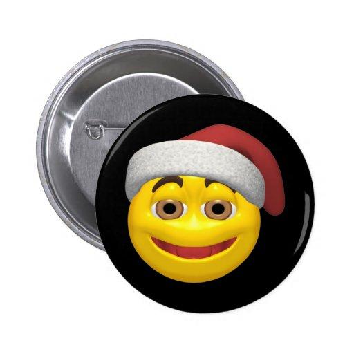 Navidad sonriente pins