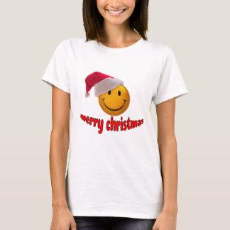 Navidad sonriente playera