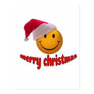 Navidad sonriente tarjeta postal