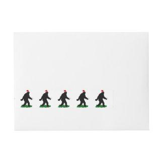 Navidad Squatch - Squatchin con los bastones de Etiquetas Envolventes De Dirección