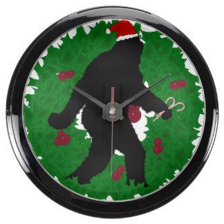 Navidad Squatchin con la guirnalda Relojes Pecera