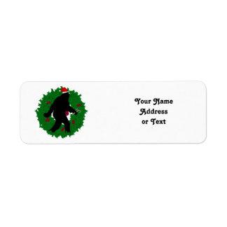 Navidad Squatchin Etiquetas De Remite