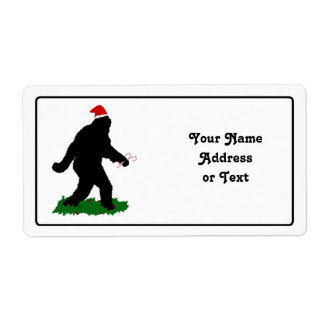 Navidad Squatchin Etiquetas De Envío
