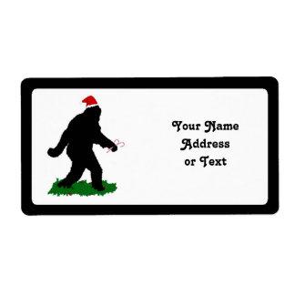 Navidad Squatchin Etiqueta De Envío