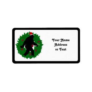 Navidad Squatchin Etiquetas De Dirección