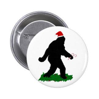 Navidad Squatchin Pin Redondo De 2 Pulgadas