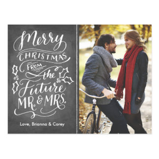 Navidad Sr. y señora futuros Photo Save The Date Postales