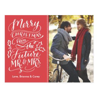 Navidad Sr. y señora futuros Photo Save The Date Tarjetas Postales
