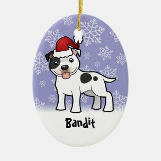 Navidad Staffordshire bull terrier (añada el nombr Ornamentos De Reyes